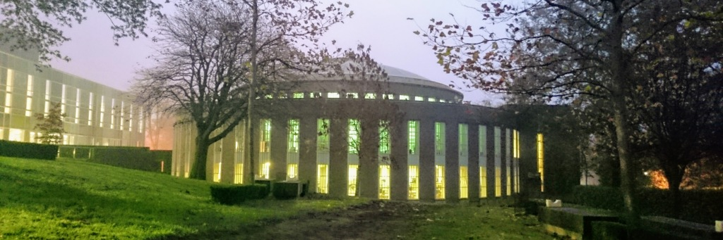early morning image of the McMillan Round Reading Room